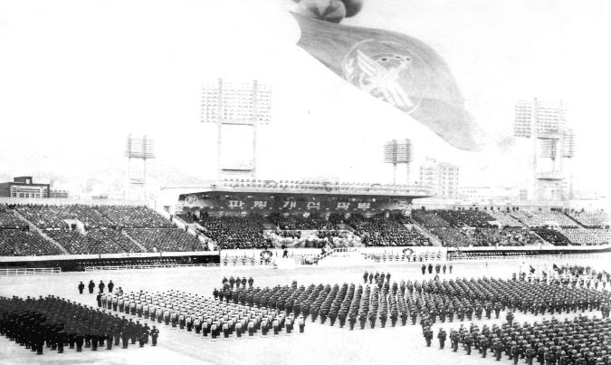 서울 운동장에서 열린 개선장병 환영대회